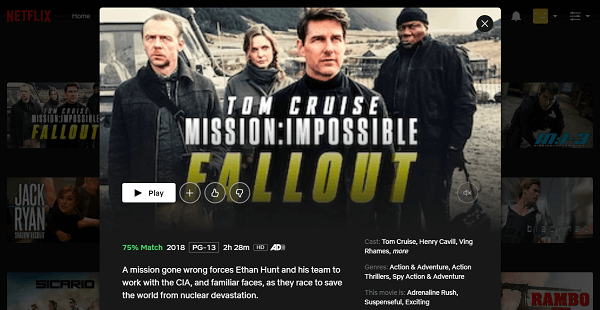 Watch MI- Fallout (2018) on Netflix 3