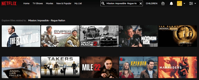 Watch MI - Rogue Nation (2015) on Netflix 1