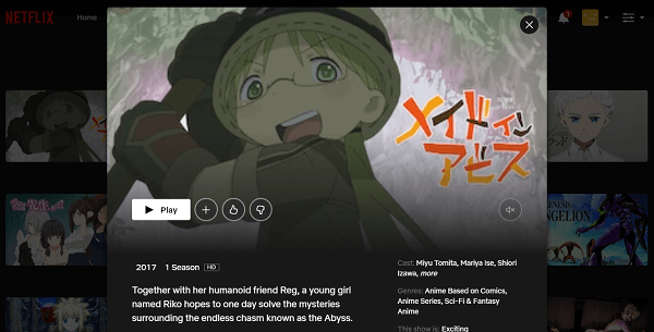 Watch Made in Abyss on Netflix 3