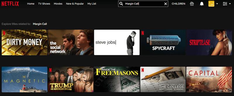 Watch Margin Call (2011) on Netflix 1