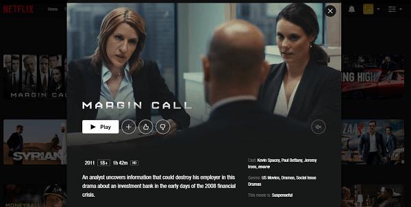 Watch Margin Call (2011) on Netflix 3