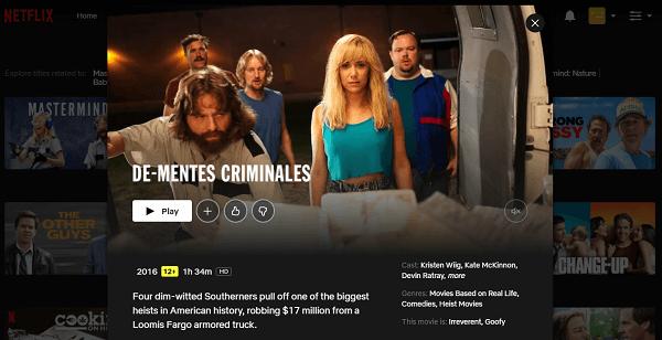 Watch Masterminds (2016) on Netflix 3