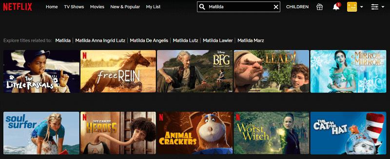 Watch Matilda (1996) on Netflix 1