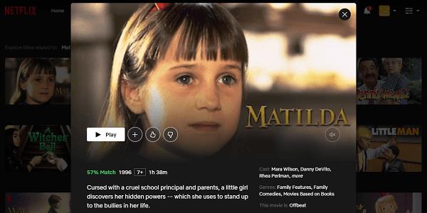 Watch Matilda (1996) on Netflix 3
