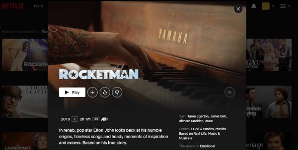 Watch Rocketman (2019) on Netflix 3