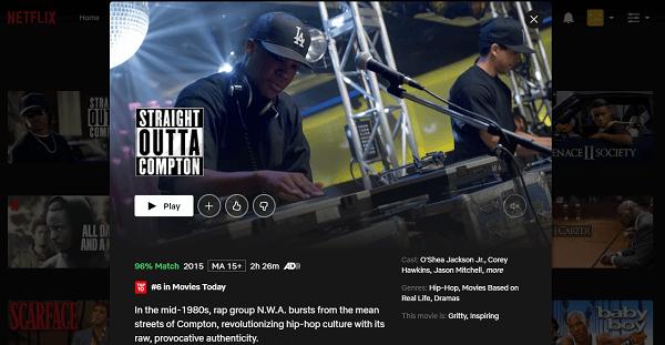 Watch Straight Outta Compton (2015) on Netflix 3