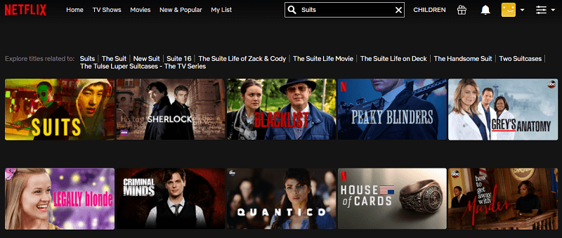 Watch Suits on Netflix 1