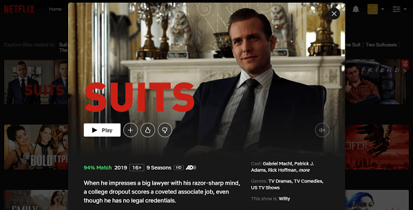 Watch Suits on Netflix 3