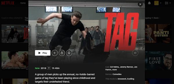 Watch Tag (2018) on Netflix 3