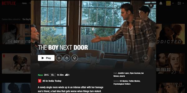 Watch The Boy Next Door (2015) on Netflix 3