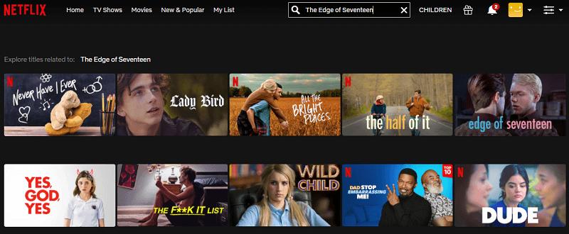 Watch The Edge of Seventeen (2016) on Netflix 1