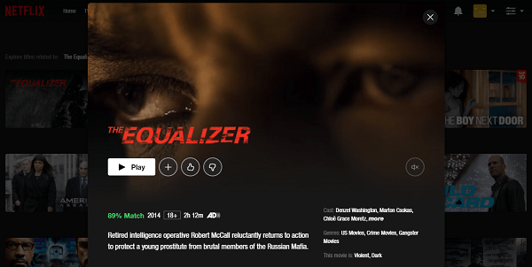 Watch The Equalizer (2014) on Netflix 3