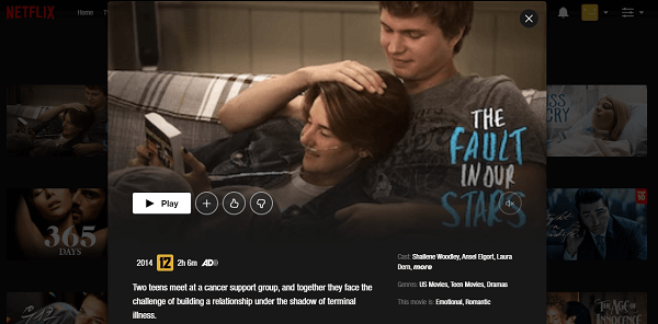Watch The Fault in Our Stars (2014) on Netflix 3