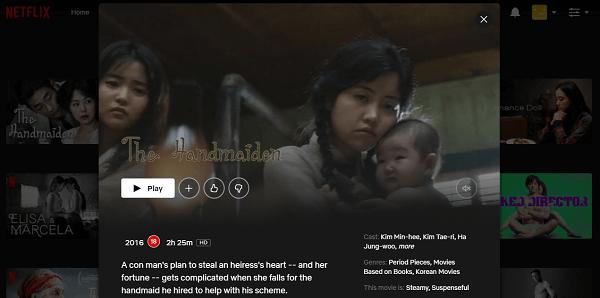 Watch The Handmaiden (2016) on Netflix 3