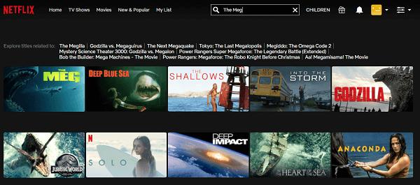 Watch The Meg (2018) on Netflix 3