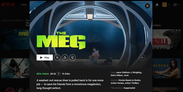 Watch The Meg (2018) on Netflix 1