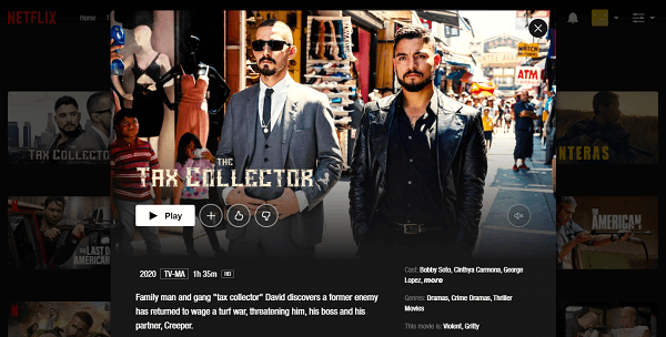 Watch The Tax Collector (2020) on Netflix 3