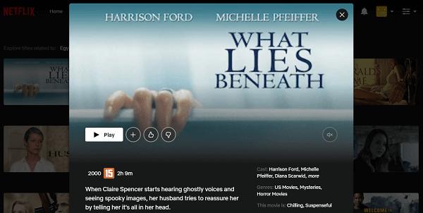 Watch What Lies Beneath (2000) on Netflix 3