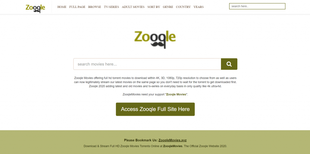 Zooqle Torrent Site for Movies & TV Shows