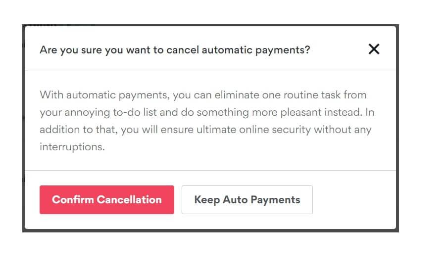Confirm Cancellation