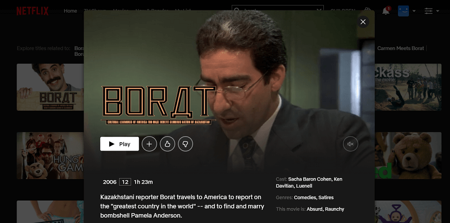 Borat Full Image
