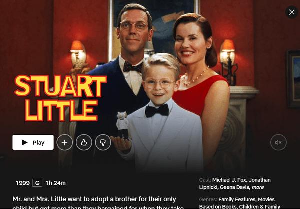 watch Stuart Little from Netfllix