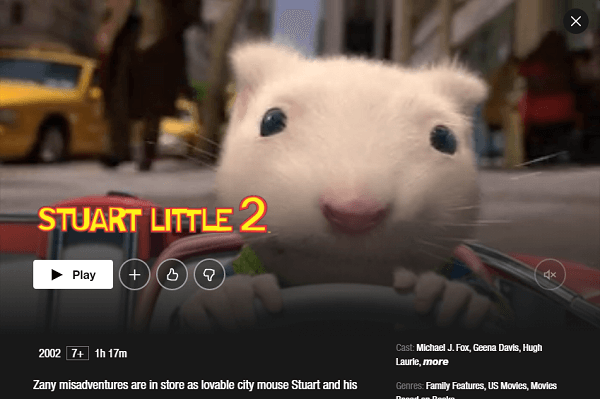 Watch Stuart Little 2