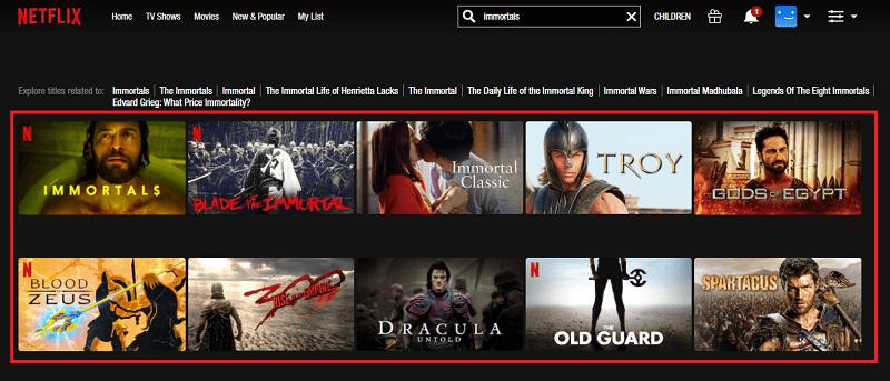 Watch Immortals on Netflix