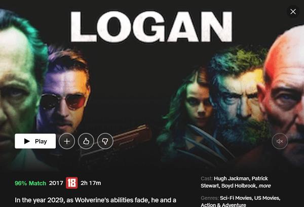 Watch Logan on Netflix
