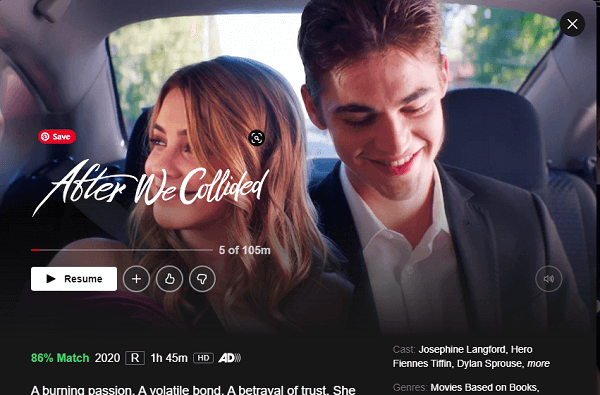 Watch After We Collided (2020) on Netflix From Anywhere in the World
