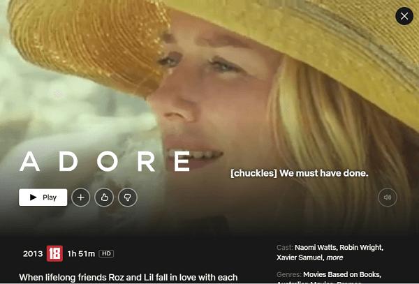 Watch Adore on netflix
