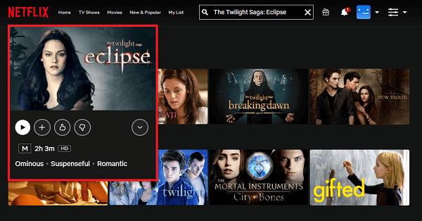 Watch The Twilight Saga: Eclipse (2010) on Netflix