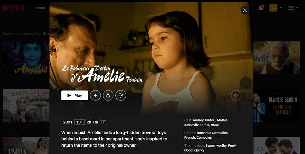 Watch Amélie (2001) on Netflix 3