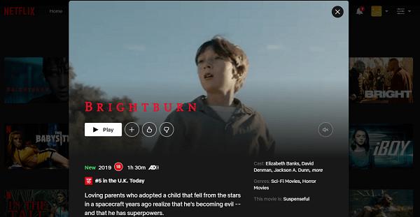 Watch Brightburn (2019) on Netflix 3