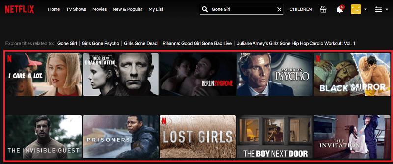 Watch Gone Girl (2014) on Netflix 1