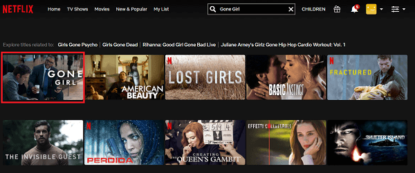 Watch Gone Girl (2014) on Netflix 2