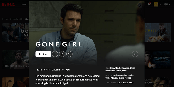 Watch Gone Girl (2014) on Netflix 3