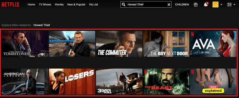 Watch Honest Thief (2020) on Netflix 1