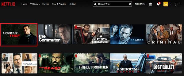 Watch Honest Thief (2020) on Netflix 2