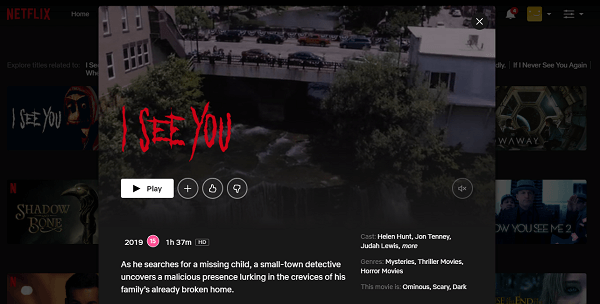 Watch I See You (2019) on Netflix 3