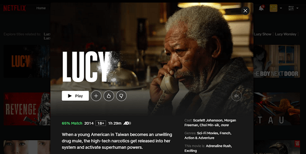 Watch Lucy (2014) on Netflix 3