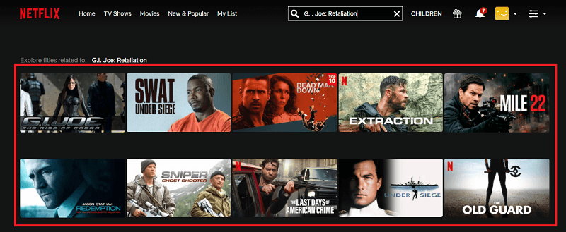 Watch MG.I. Joe - Retaliation (2013) on Netflix 1