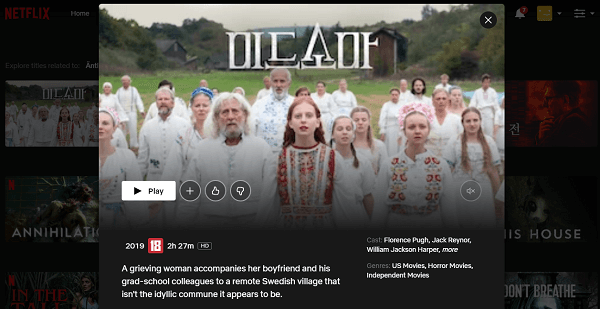 Watch Midsommar (2019) on Netflix 3