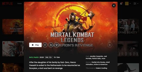 Watch Mortal Kombat Legends - Scorpion's Revenge (2020) on Netflix 3