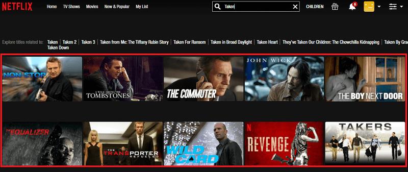 Watch Taken (2008) on Netflix 1