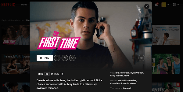 Watch The First Time (2012) on Netflix 3