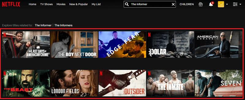 Watch The Informer (2019) on Netflix 1