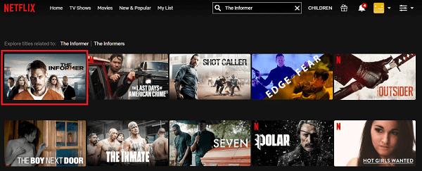 Watch The Informer (2019) on Netflix 2