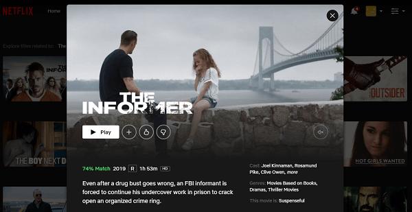 Watch The Informer (2019) on Netflix 3