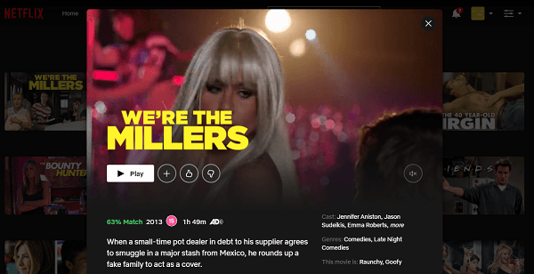 Watch We're the Millers (2013) on Netflix 3